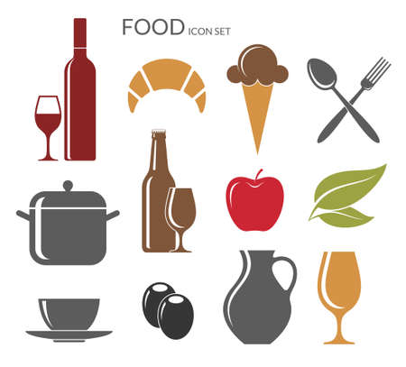 Food. Icon set Vector