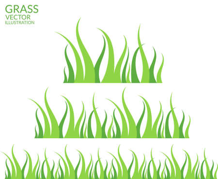 Grass. Set Vector