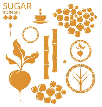 Azúcar. Set Foto de archivo - 42656666