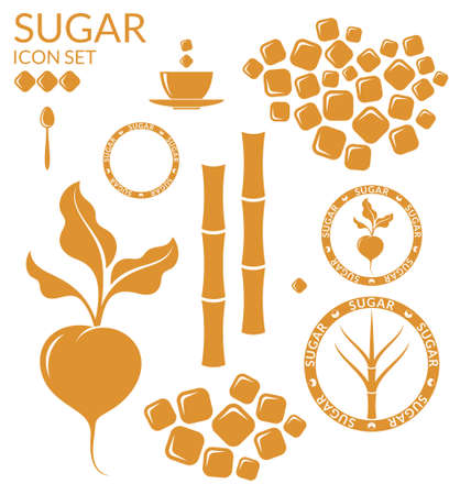 white sugar: Sugar. Set