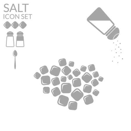 Salt. Icon set