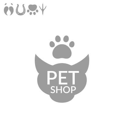 tienda de animales: Tienda de mascotas. Icono de conjunto