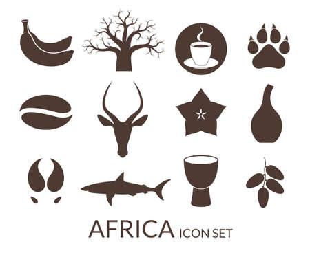Africa. Icon set Illustration