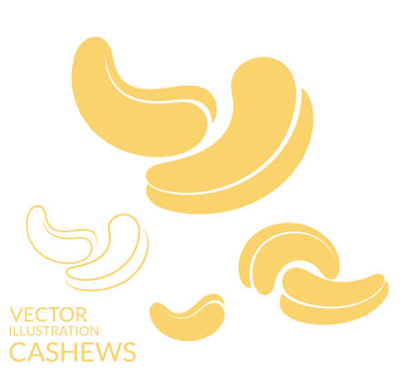 cashews: Cashews. Icon set