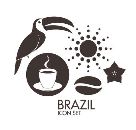 america del sur: Brasil. Icono de conjunto
