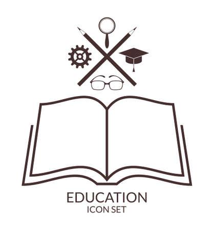 교육. 아이콘 세트