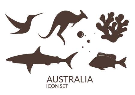 Australia. Icon set  イラスト・ベクター素材