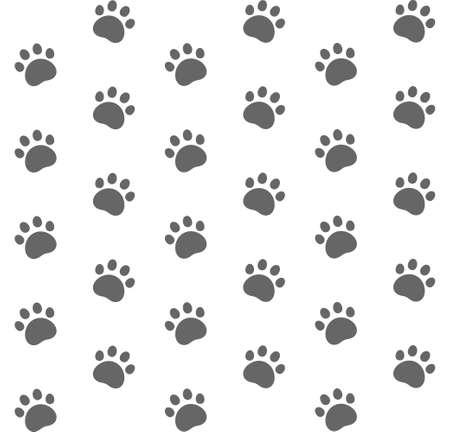 huellas de animales: Gato. Patrón