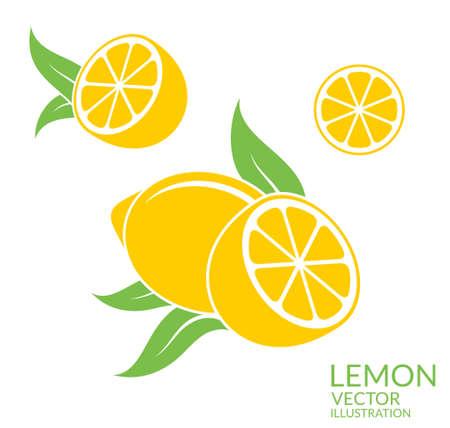 lemon: Lemon. Isolated fruit on white background