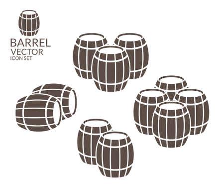 barrels: Barrel. Icon set Illustration