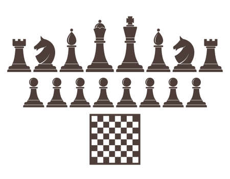 chess king: Chess. Icon set
