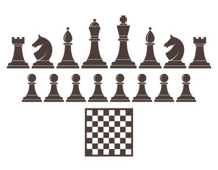 chess rook: Chess. Icon set