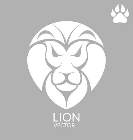 footmark: Lion Illustration