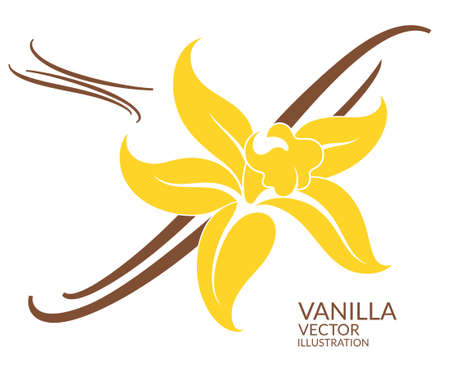 silhouette fleur: Vanille