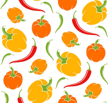 agriculture wallpaper: Pepper. Pattern