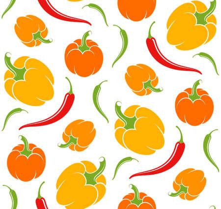 red pepper: Pepper. Pattern