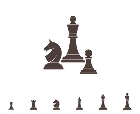 Chess. Silhouette Illustration