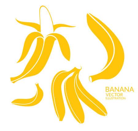 peel: Banana. Set Illustration