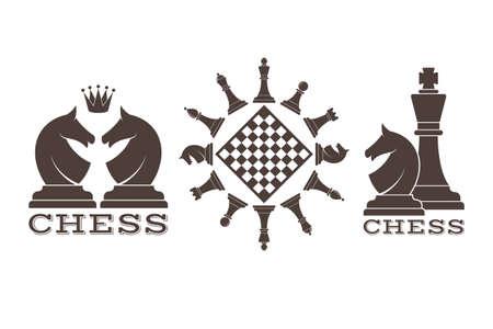 piece: Chess. Emblem Illustration