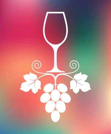 french culture: Wine. Abstract glass on smooth background