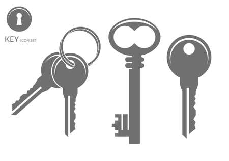 security icon: Key. Icon set