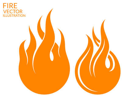 abstract fire: Fire. Icon set Illustration