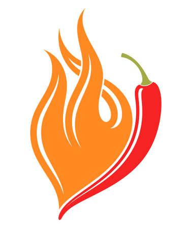 chili pepper: Hot chili pepper Illustration