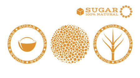 brown sugar: Sugar. Stamp