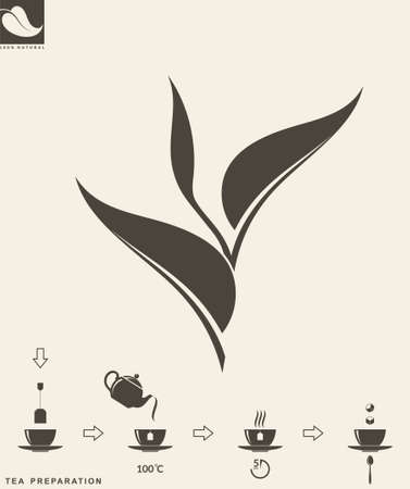 tea leaf: Tea preparation. Leaf