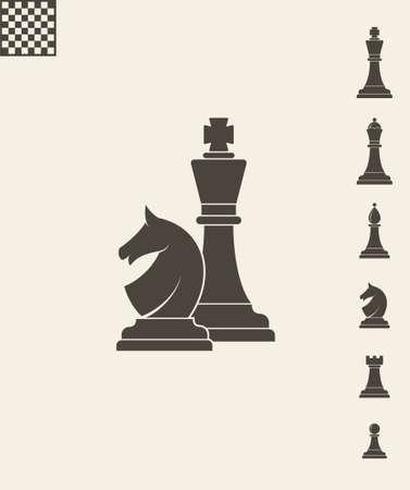Schachfiguren. Icon-Set