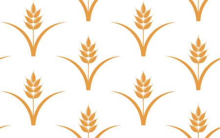 seamless pattern: Wheat. Seamless pattern