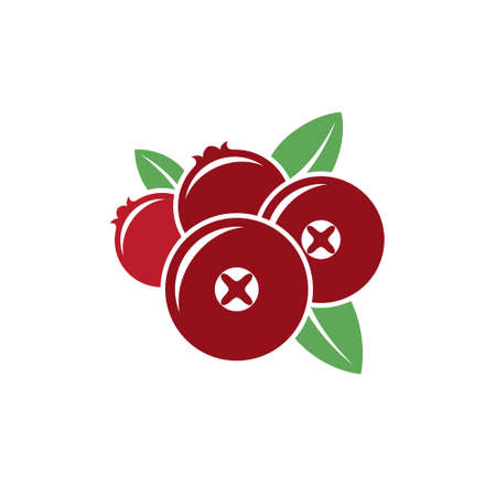 Cranberry. Vector