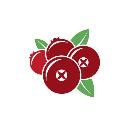 cranberry: Cranberry. Vector