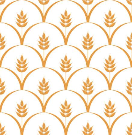 cereal plant: Vintage pattern