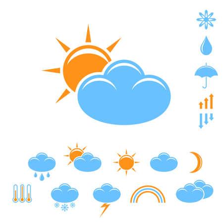 Weather forecast. Icon set
