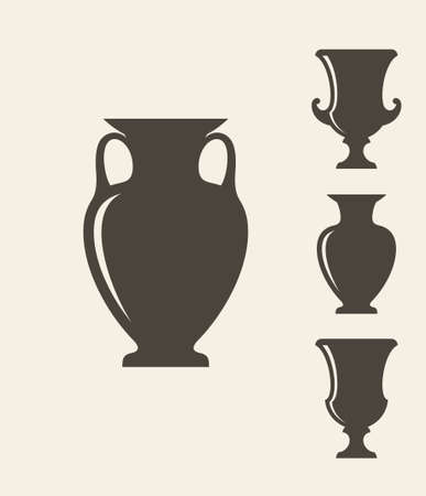 Ancient Greek Vases Royalty Free Cliparts Vectors And Stock