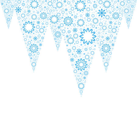 White Christmas background with Icicles