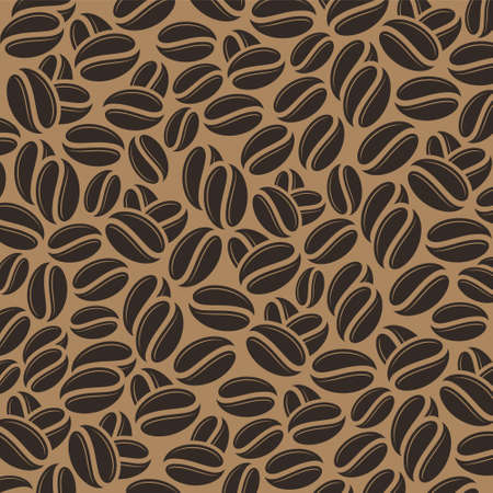 retro patterns: Coffee beans