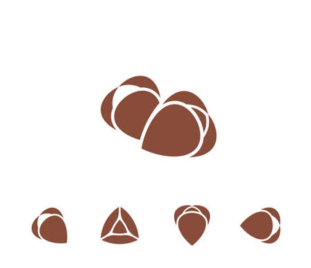 Buckwheat. Icon set