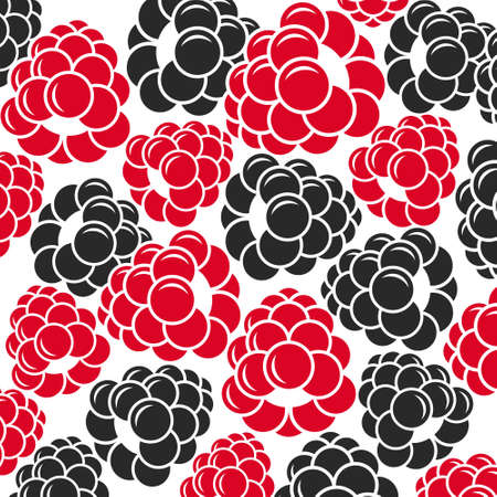 dewberry: Raspberries and blackberries. Abstract berries on white background