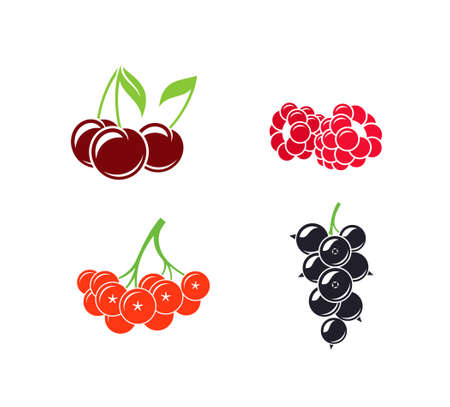 Berries. Abstract fruit on white background 向量圖像