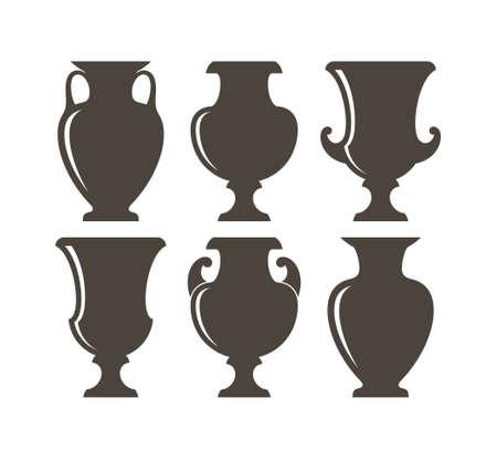 Isolated vases illustration.