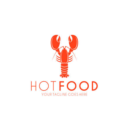 Lobster icon. Hot food