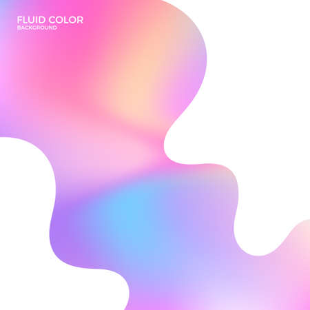 Abstract wave fluid color background