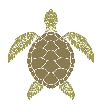 Green sea turtle Stock Illustratie