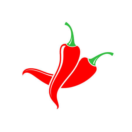Chili pepper. Red peppers on white background