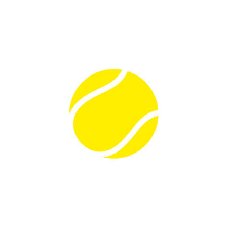Tennis ball. Icon 矢量图像