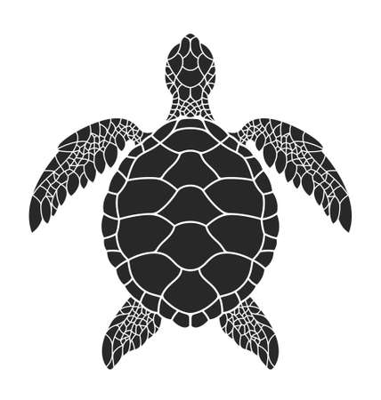 Sea turtle. Vector illustration Stock Illustratie