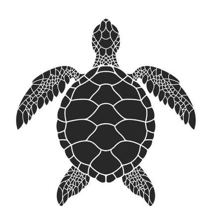 Tortuga marina. Ilustración vectorial