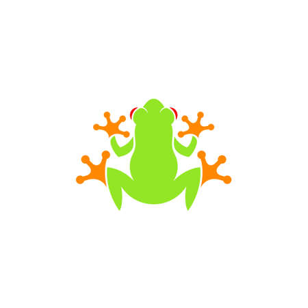 Red eyed tree frog Tropical frog on white